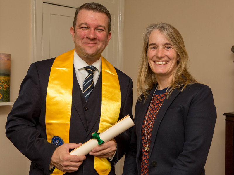 Mark Hall receives Tutor status from the National Association of Funeral Directors