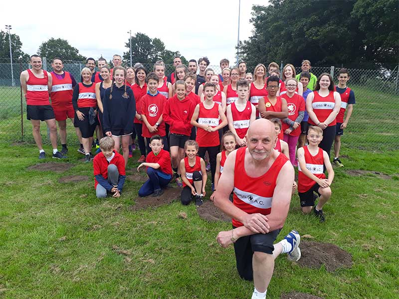 Glenn Bate at Diss Athletics Club